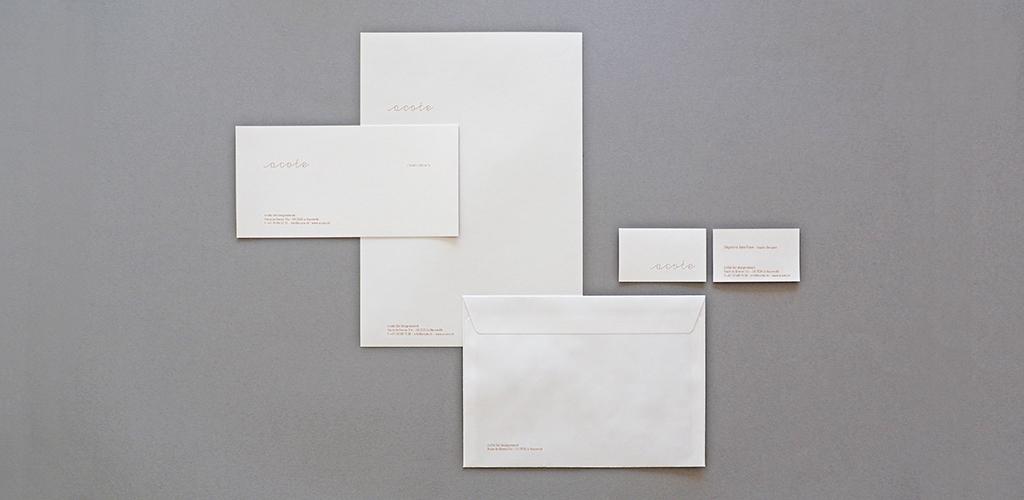 Nom De Lentreprise Logotype Bloc Cartes Visites Carte Compliments Entte Lettre Et Enveloppe