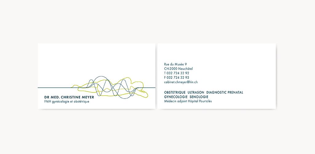 Projet Et Ralisation De La Nouvelle Identit Visuelle Doctoresse Christine Meyer Logotype Carte Visite Compliments Entte Lettre
