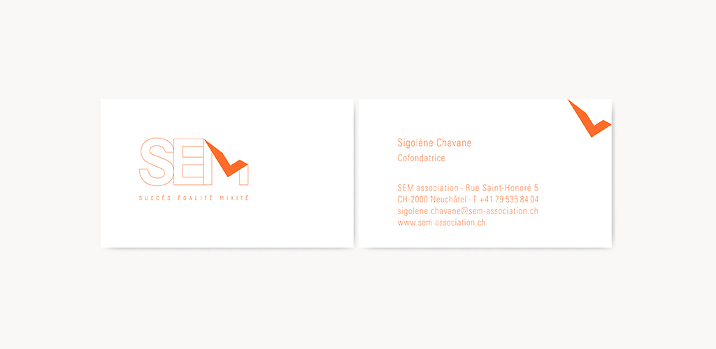Projet Et Realisation De La Nouvelle Identite Visuelle SEM Association Logotype Carte Visite